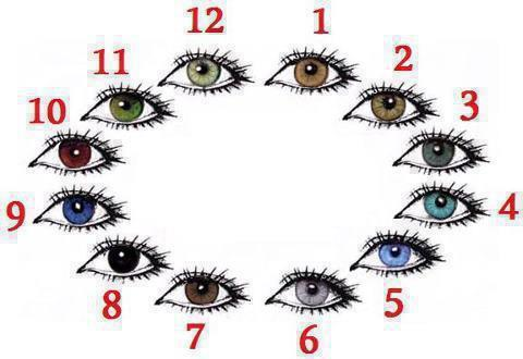 تحليل الشخصية من لون العينين