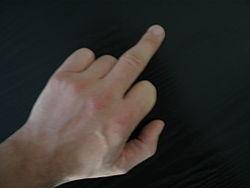 اصبع الوسطى